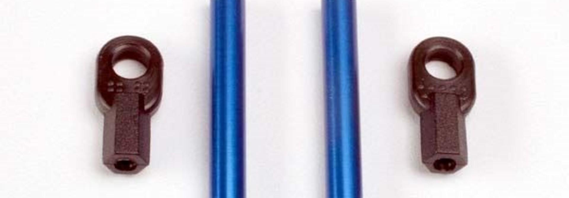 Bellcrank posts, aluminum (2)/ steering link threaded rod (3, TRX4944