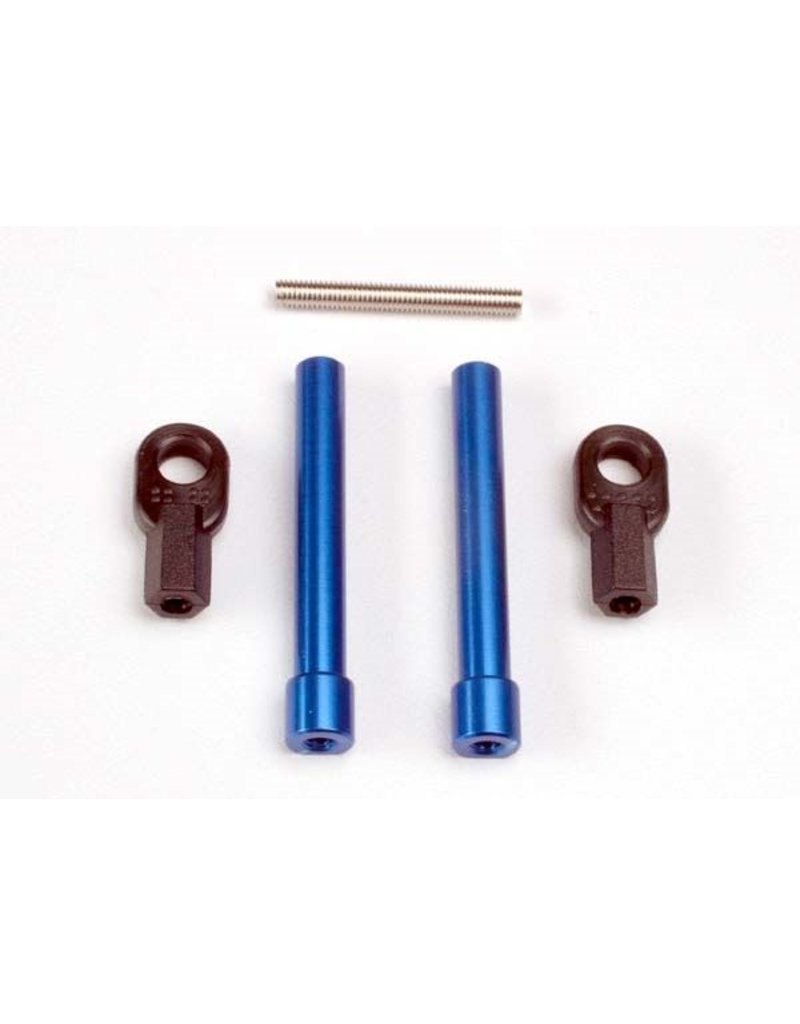 Traxxas Bellcrank posts, aluminum (2)/ steering link threaded rod (3, TRX4944