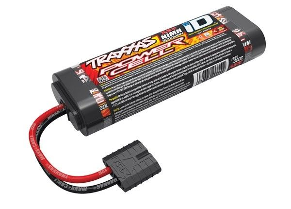 Battery, Power Cell, 3000mAh (NiMH, 6-C flat, 7.2V), TRX2922X-1