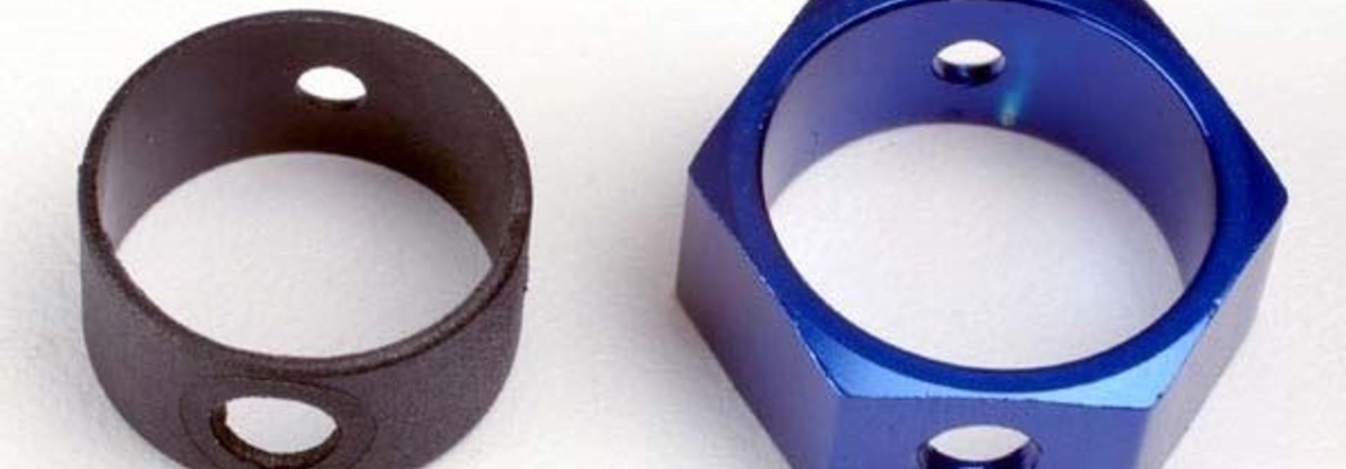 Brake adapter, hex aluminum (blue), TRX4966