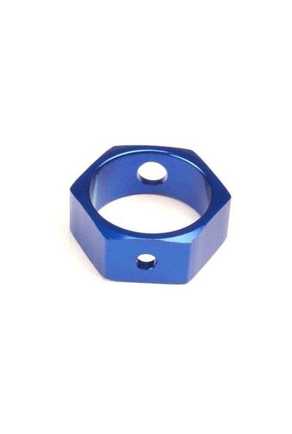 Brake adapter, hex aluminum (blue) (use with HD shafts), TRX4966X