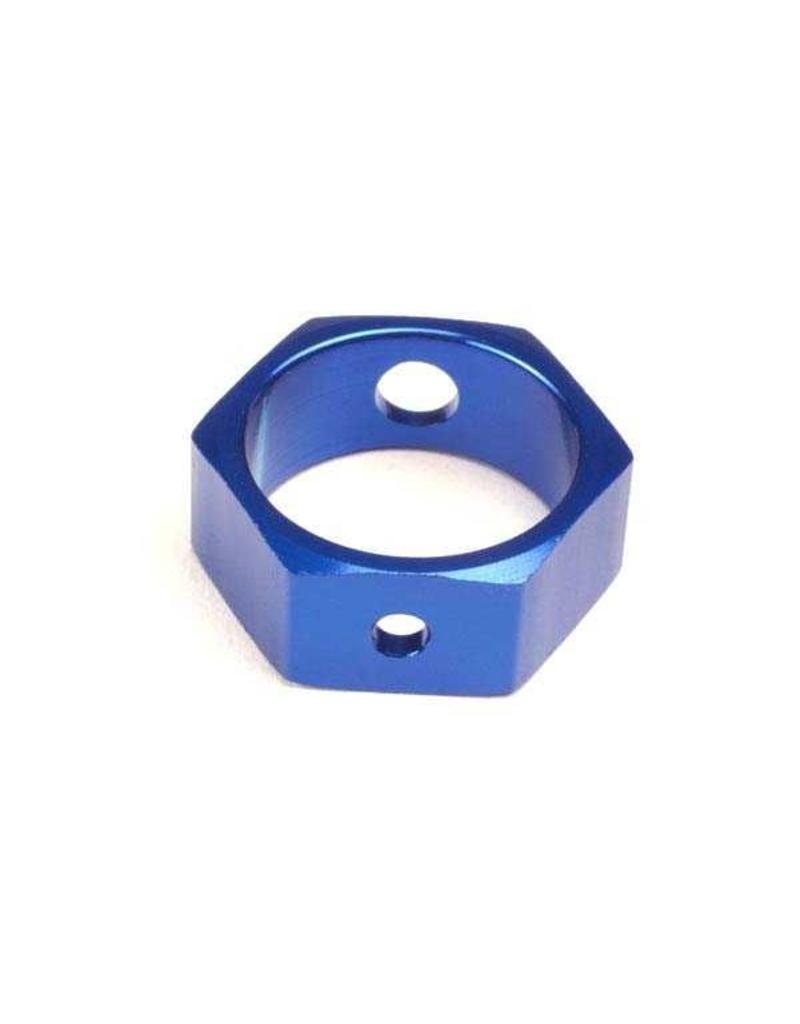 Traxxas Brake adapter, hex aluminum (blue) (use with HD shafts), TRX4966X