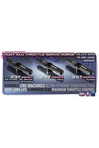 ALU THROTTLE SERVO HORN 1/8 OFF-ROAD HITEC - 24T (M3 THREAD), H293508