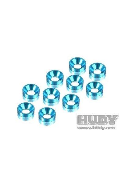 Alu Countersunk Shim - Blue (10), H296510-B