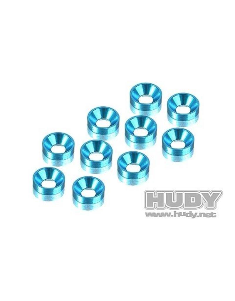 Hudy Alu Countersunk Shim - Blue (10), H296510-B