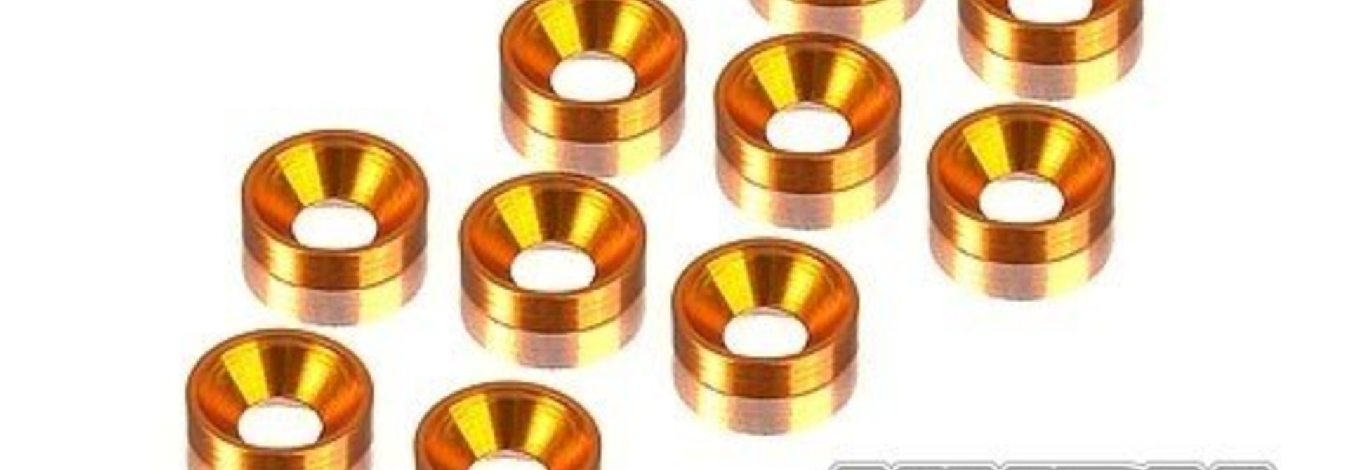 Alu Countersunk Shim - Orange (10), H296510-O