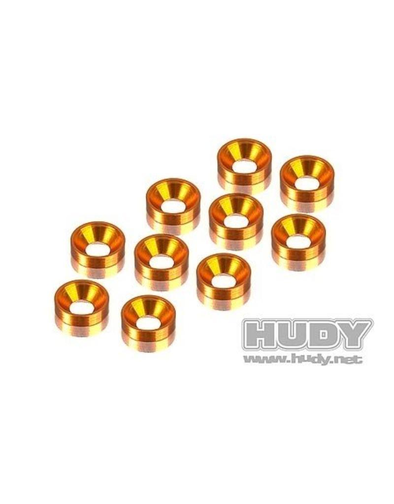 Hudy Alu Countersunk Shim - Orange (10), H296510-O