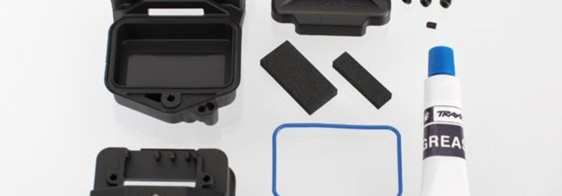 Box, receiver (sealed) (servo mount)/ foam (2)/ BCS 3x10mm/, TRX6424