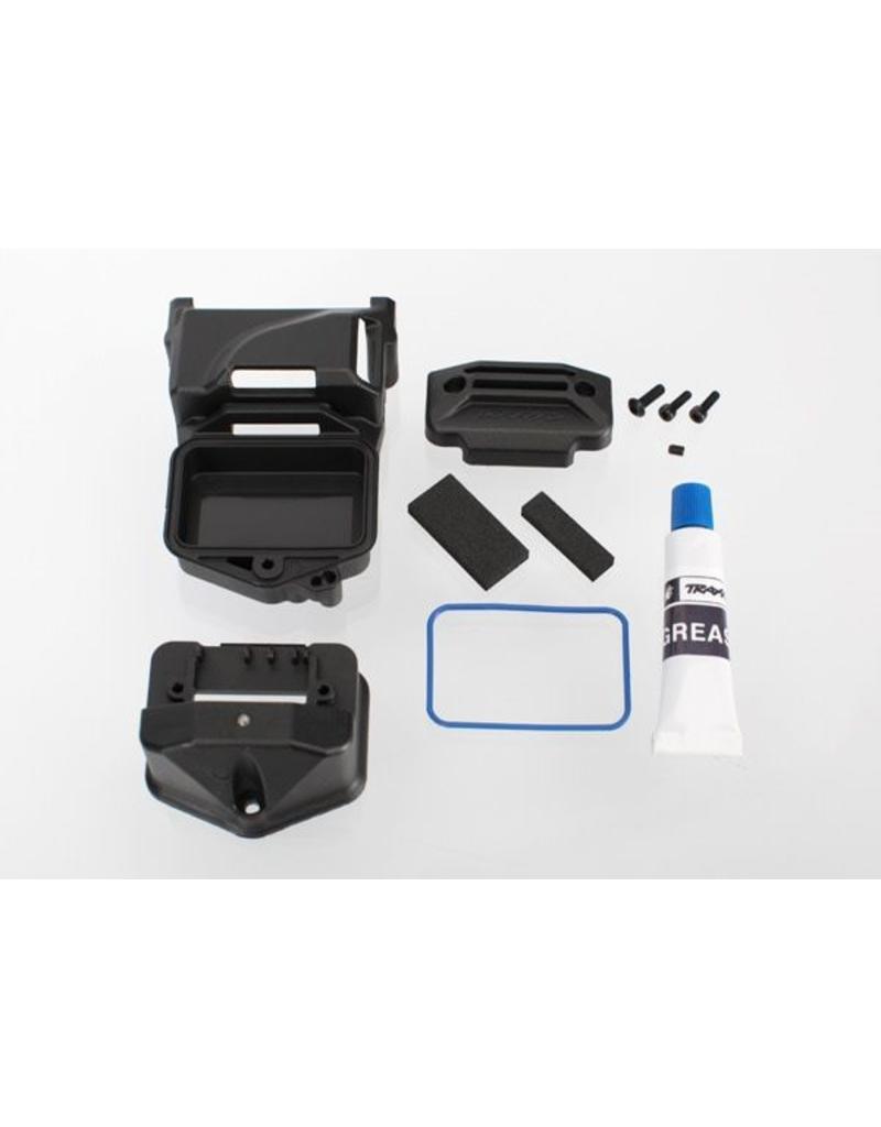 Traxxas Box, receiver (sealed) (servo mount)/ foam (2)/ BCS 3x10mm/, TRX6424
