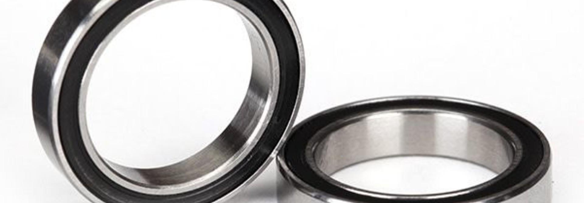 Ball bearings, black rubber sealed (15x21x4mm) (2), TRX5102A