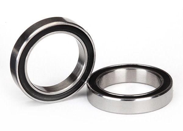 Ball bearings, black rubber sealed (15x21x4mm) (2), TRX5102A-1