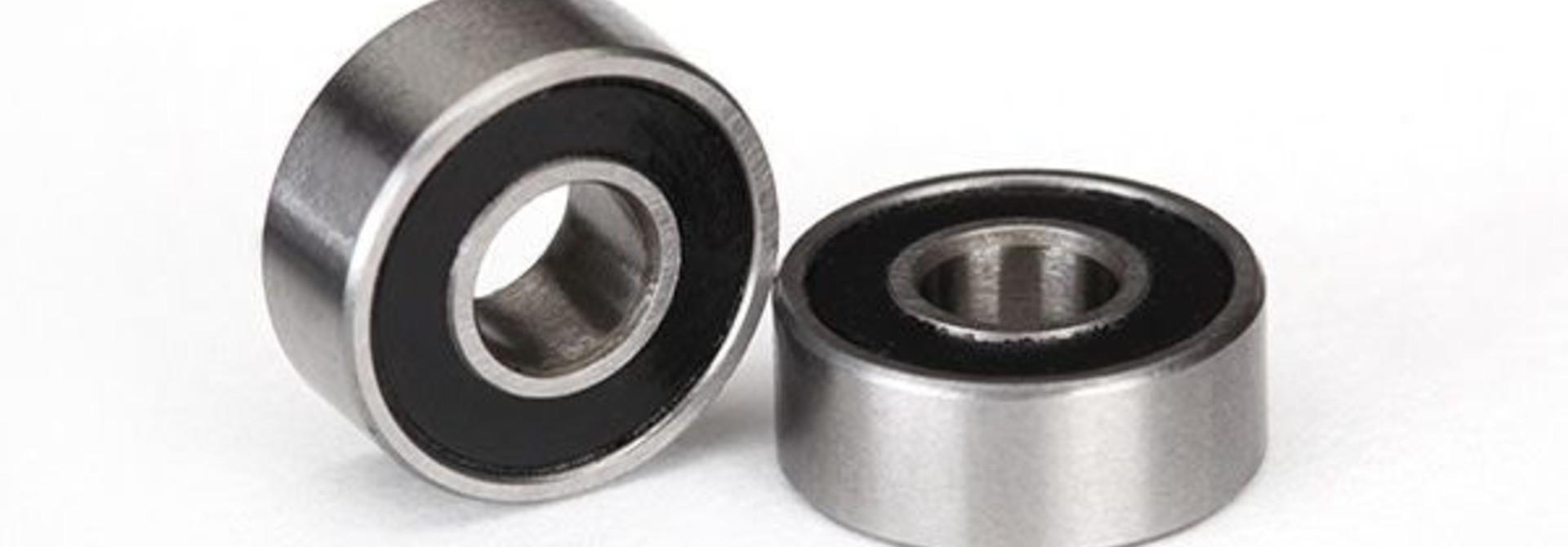 Ball bearings, black rubber sealed (4x10x4mm) (2), TRX5104A