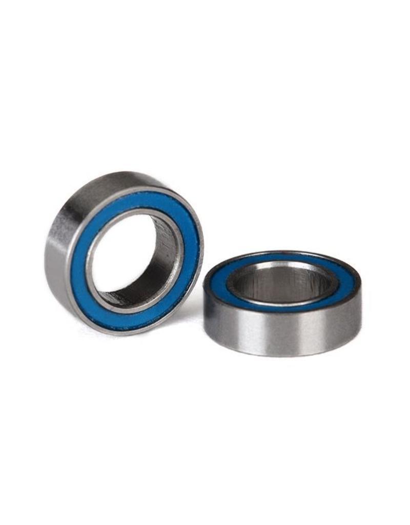 Traxxas Ball bearings, blue rubber sealed (6x10x3mm) (2), TRX5105