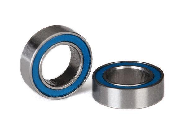 Ball bearings, blue rubber sealed (6x10x3mm) (2), TRX5105-1