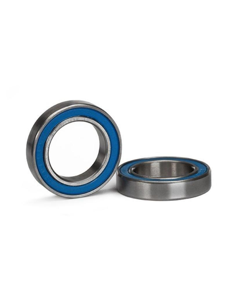 Traxxas Ball bearing, blue rubber sealed (15x24x5mm) (2), TRX5106