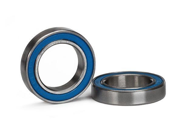 Ball bearing, blue rubber sealed (15x24x5mm) (2), TRX5106-1