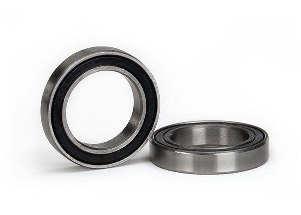 Ball bearing, black rubber sealed (15x24x5mm) (2), TRX5106A-1