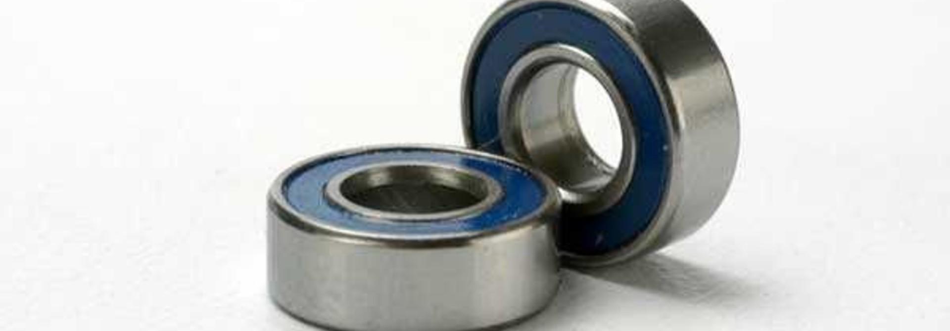 Ball bearings, blue rubber sealed (5x11x4mm) (2), TRX5116