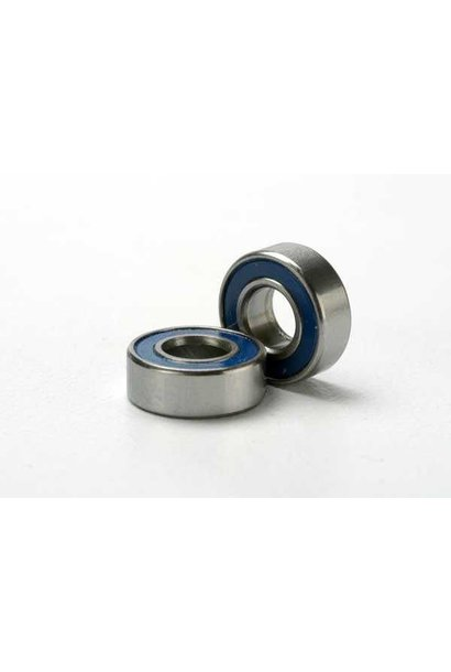 Ball bearings, blue rubber sealed (5x11x4mm) (2), TRX5116