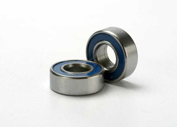 Ball bearings, blue rubber sealed (5x11x4mm) (2), TRX5116-1