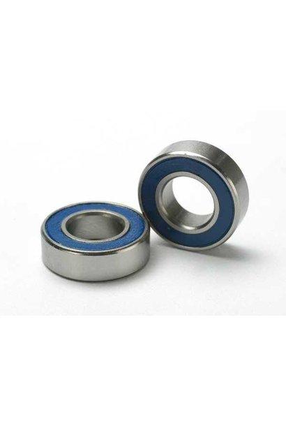 Ball bearings, blue rubber sealed (8x16x5mm) (2), TRX5118