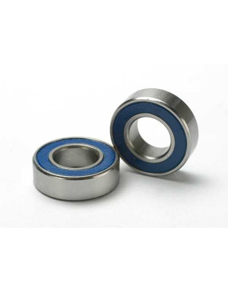 Traxxas Ball bearings, blue rubber sealed (8x16x5mm) (2), TRX5118