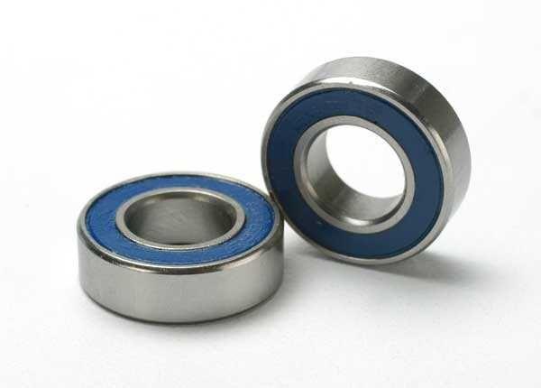Ball bearings, blue rubber sealed (8x16x5mm) (2), TRX5118-1