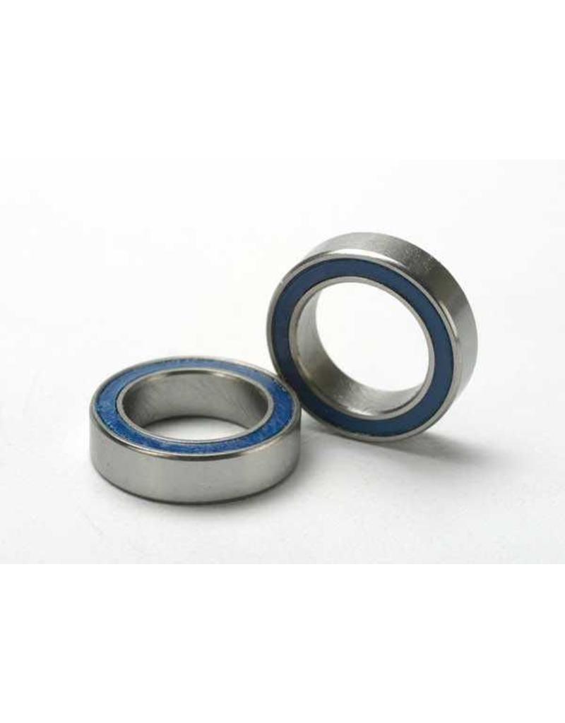 Traxxas Ball bearings, blue rubber sealed (10x15x4mm) (2), TRX5119