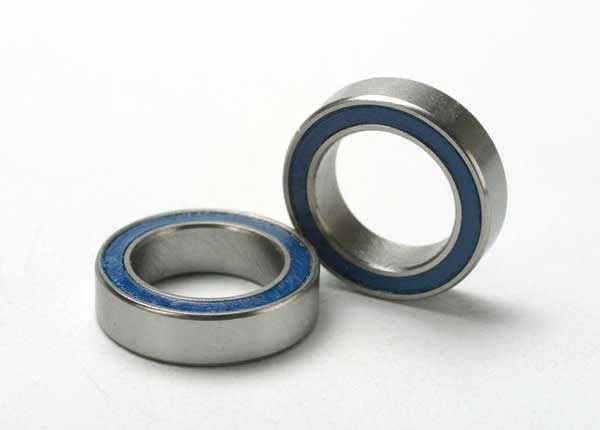 Ball bearings, blue rubber sealed (10x15x4mm) (2), TRX5119-1
