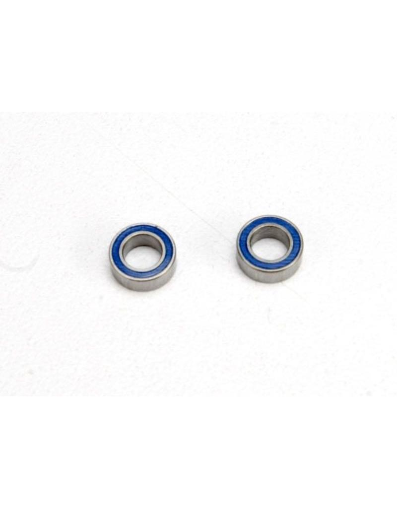Traxxas Ball bearings, blue rubber sealed (4x7x2.5mm) (2), TRX5124