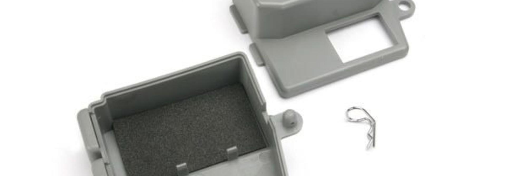 Box, receiver (upper and lower halves)/ clip (1)/ foam pad, TRX5159
