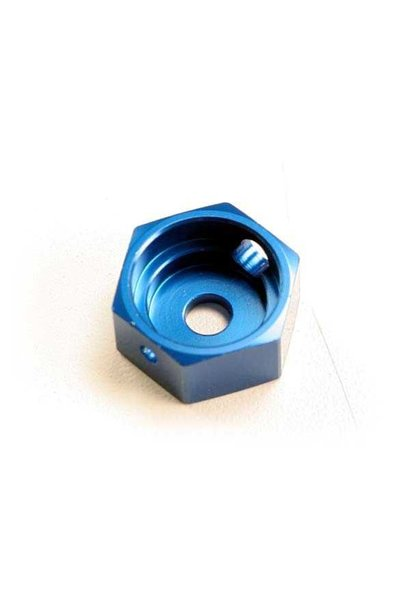 Brake adapter, hex aluminum (blue) (for T-Maxx steel constan, TRX5165