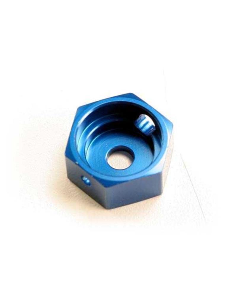 Traxxas Brake adapter, hex aluminum (blue) (for T-Maxx steel constan, TRX5165