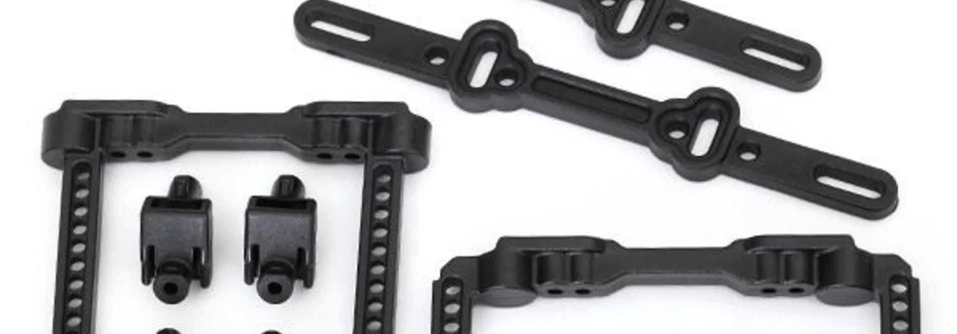 Body mounts, front & rear/ body mount posts/ body mount slid, TRX8316