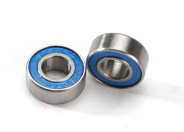 Ball bearings, blue rubber sealed (6x13x5mm) (2), TRX5180-1