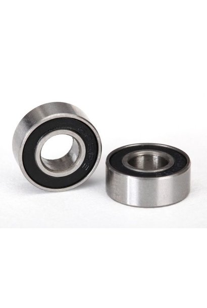 Ball bearings, black rubber sealed (6x13x5mm) (2), TRX5180A