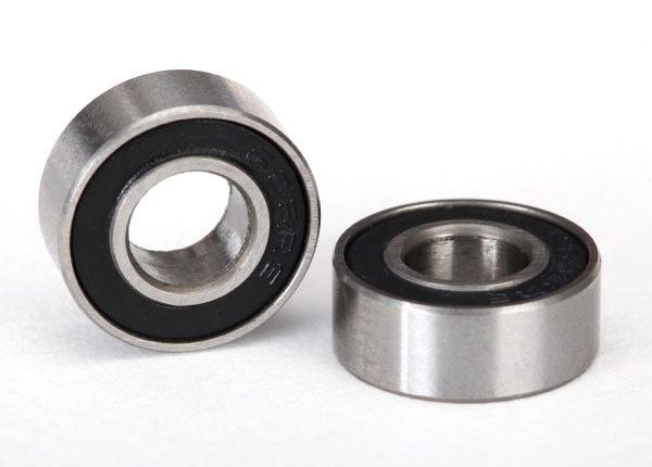 Ball bearings, black rubber sealed (6x13x5mm) (2), TRX5180A-1
