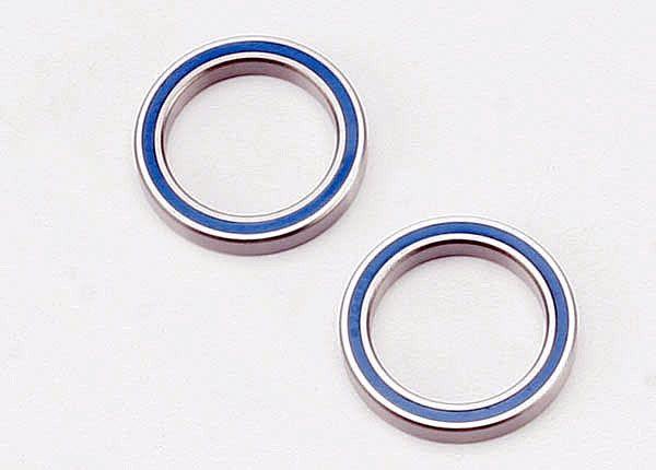 Ball bearings, blue rubber sealed (20x27x4mm) (2), TRX5182-1