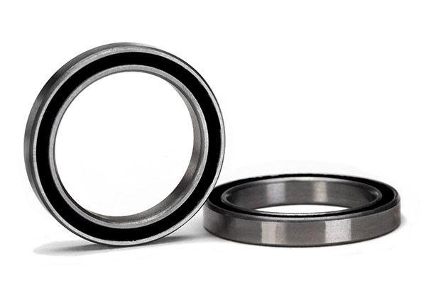 Ball bearing, black rubber sealed (20x27x4mm) (2), TRX5182A-1