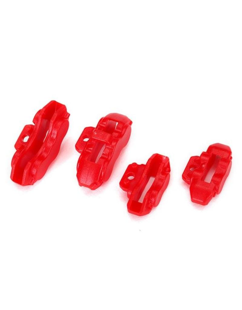 Traxxas Brake calipers (red), front (2)/ rear (2), TRX8367