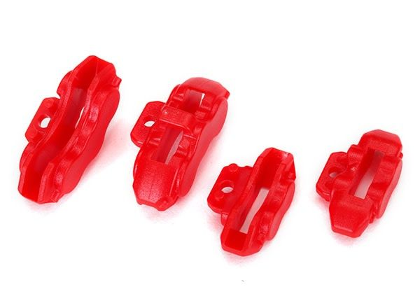 Brake calipers (red), front (2)/ rear (2), TRX8367-1