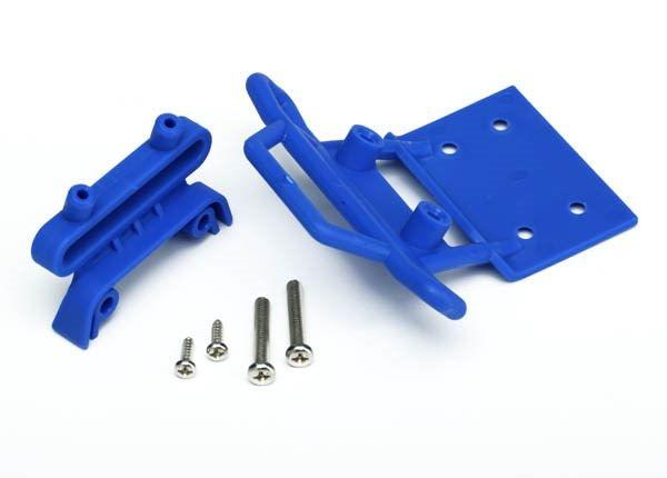 Bumper, front / bumper mount, front / 4x23mm RM (2)/ 3x10mm, TRX3621X-1