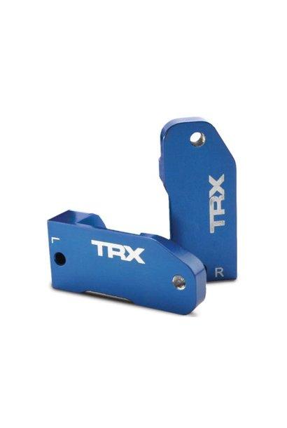 Caster blocks, 30-degree, blue-anodized 6061-T6 aluminum (le, TRX3632A