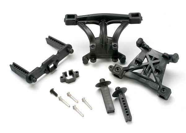 Body mounts, front & rear/ body mount posts, front & rear/ 2, TRX5314-1