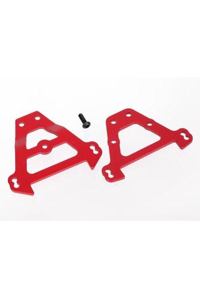 Bulkhead tie bars, front & rear (red-anodized aluminum), TRX5323R