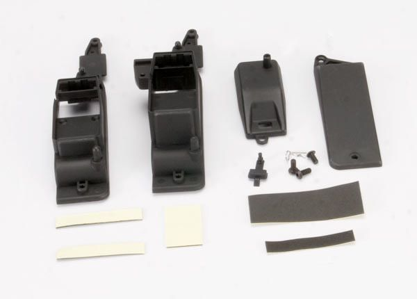 Box, receiver & battery (2)/ cover/ foam pad & adhesive/ cha, TRX5324X-1
