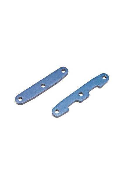 Bulkhead tie bars, front & rear, aluminum (blue-anodized), TRX6823