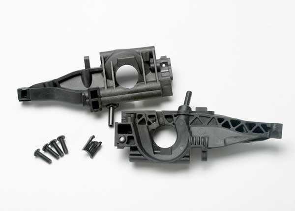 Bulkhead, rear (L&R halves)/ diff retainer, rear/ 4x14mm BCS, TRX5329-1