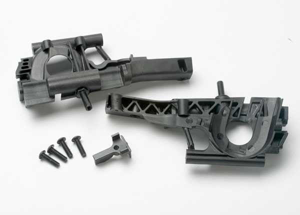 Bulkhead, front (L&R halves)/ diff retainer/ 4x14mm BCS (4), TRX5330-1