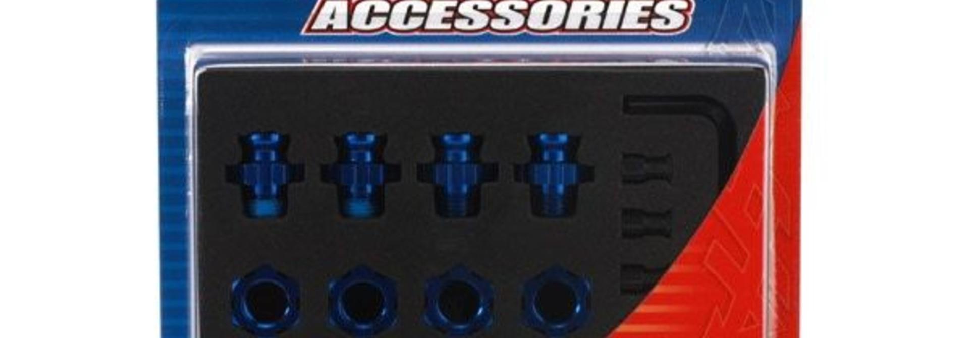 Anodised alu 17mm hex adaptors, TRX6856X